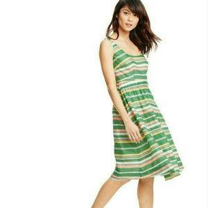 Boden Green Pink & Yellow Hattie Sleeveless Dress